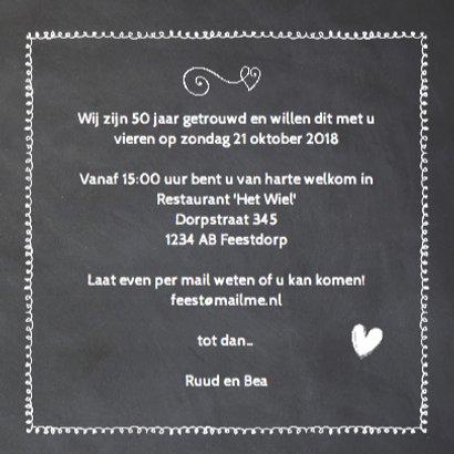 Krijtbord 50 jaar huwelijk - hout cijfers 3