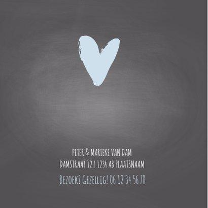 Krijtbord geboortekaart hartje 2