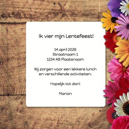 Lentefeest bloemen hout - DH 3