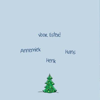 Leuke nieuwjaarskaart met vliegende kerstman en sneeuwpop 2