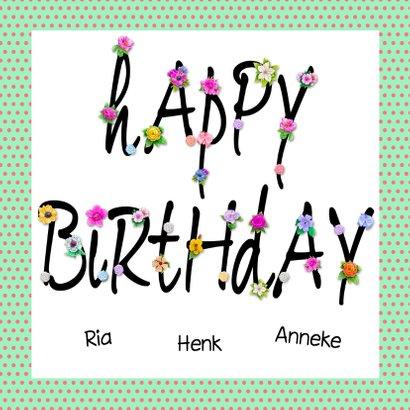 Leuke verjaardagskaart voor een tiener met cake 3