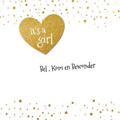 Lief geboortekaartje goud confetti 2