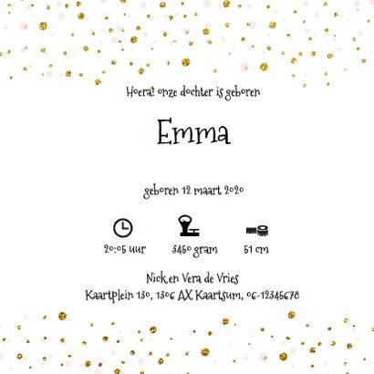 Lief geboortekaartje goud confetti 3