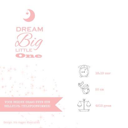 Lief geboortekaartje meisje met olifantje en wensbloem 2