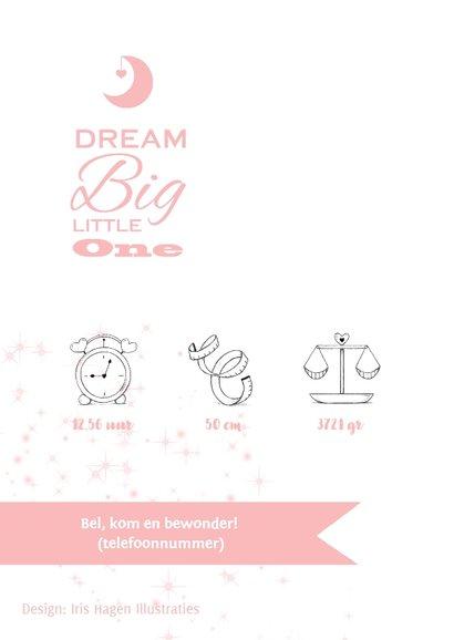 Lief geboortekaartje met olifantje en wensbloem voor meisje 2