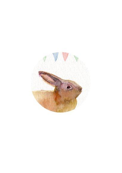 Lief konijntje verjaardagkaart 2