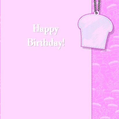 Lief roze kaart met cupcakes 3