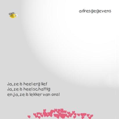 Mo Card olifant geboortekaartje hartjes ballonnen 2