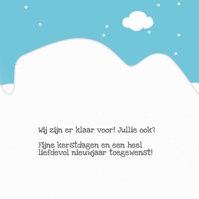 Mocards sneeuw kerst slee kaart 3