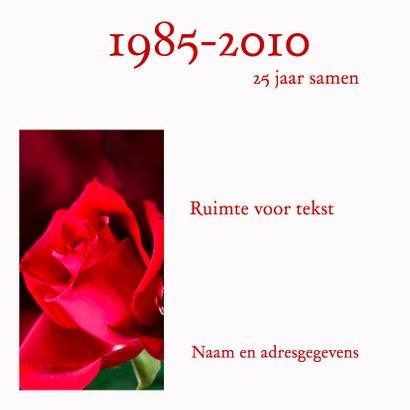 Mooie kaart met rode roos 3