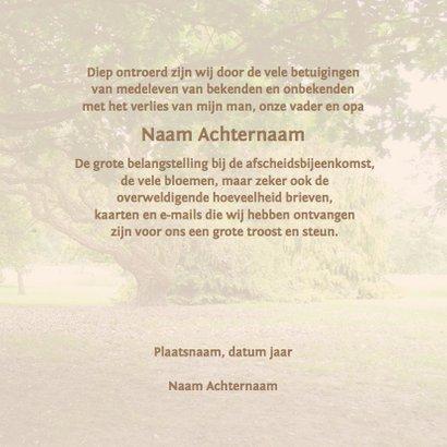 Mooie rustige bedankkaart met de stilte van de natuur 3