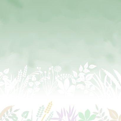 Mooie sterkte kaart blaadjes en takjes in pasteltinten 2