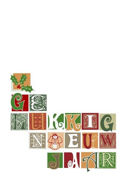 Nieuwjaar letterblokjes op wit 2