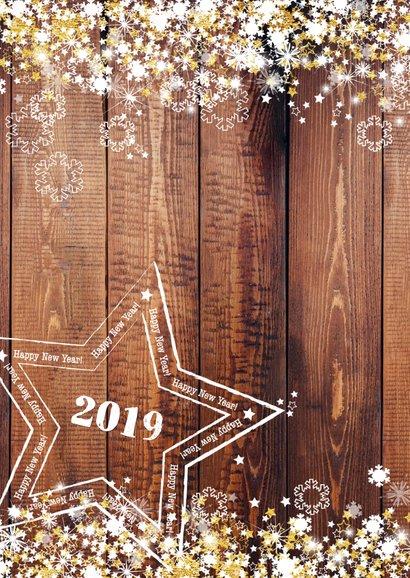 Nieuwjaar stoer en romantisch hout en sterren 2