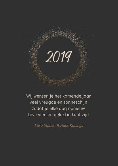 Nieuwjaarskaart cirkel glitterlook  3
