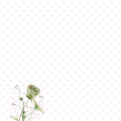 Oeps, te laat - Wilde bloemen illustratie 2