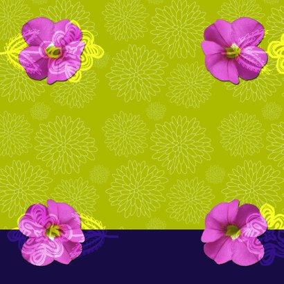 Olifantje met bloemen verjaardag 3