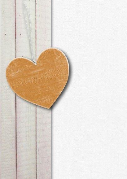 Pastelkleur hout gouden hart 2