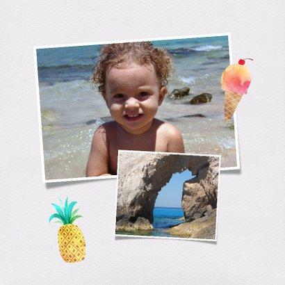 Polaroid vakantiekaart foto flamingo 2
