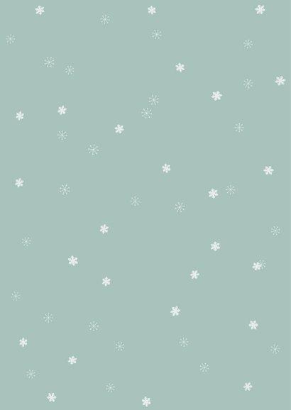 Rechthoekige kerstkaart met fotocollage en sneeuwvlokjes 2