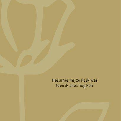 Rouw roos zwart wit goudbruin 2