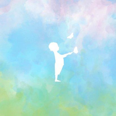 Rouw  waterverf silhouet jongen 2