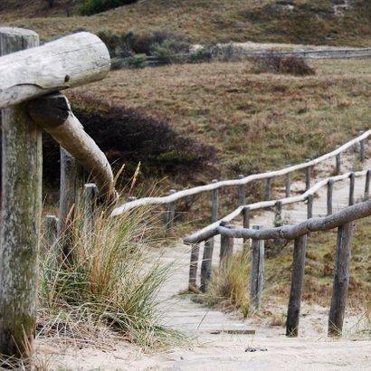 Rouwkaart Duinen houten trap 2