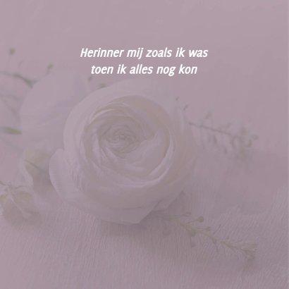 rouwkaart foto witte roos 2