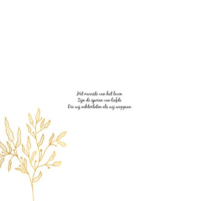 Rouwkaart met gouden takjes 2
