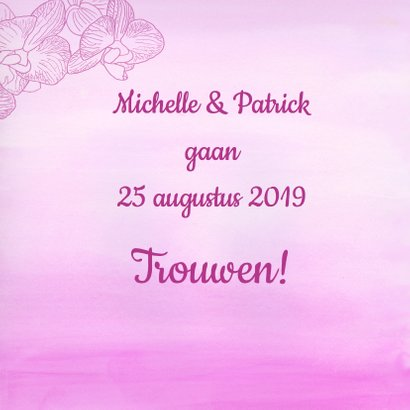 Save Te Date orchidee 2