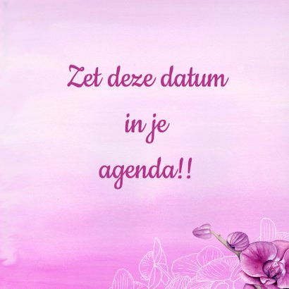 Save Te Date orchidee 3
