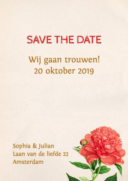 Save the Date Botanisch Aquarel 3