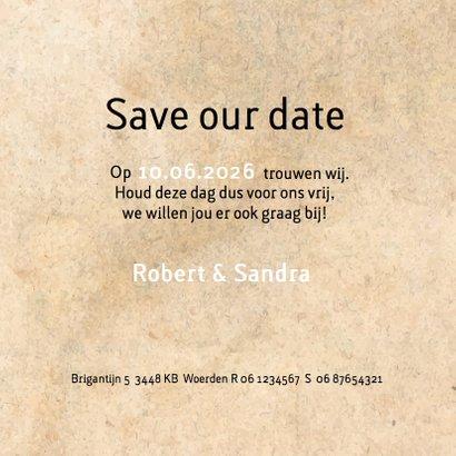 Save the date geometrisch hart 3