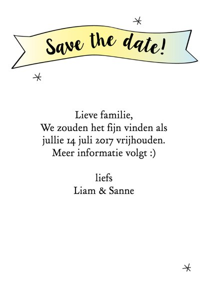 Save the date grafisch 3