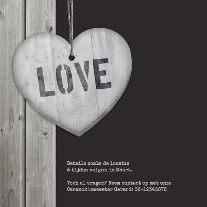 Save the date Hout Hart hangers 2