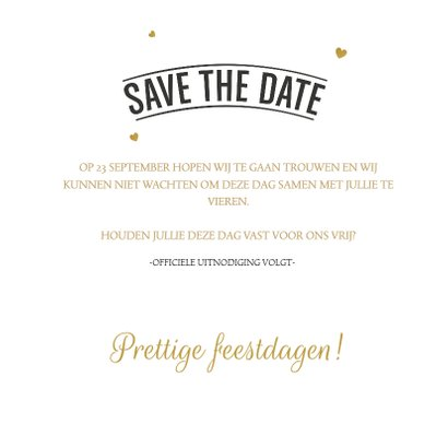 Save the Date Kerstkaart 02 3