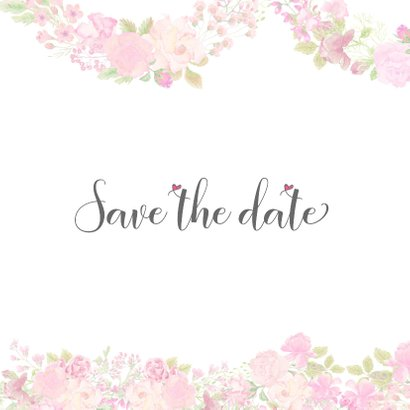 Save the date rozen pastel 2