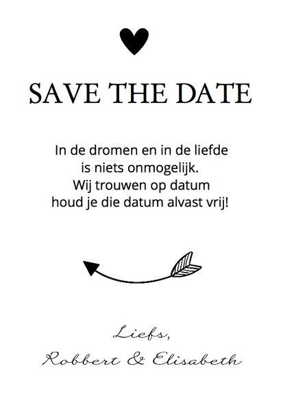 Save the Date zwart wit eigen foto 3