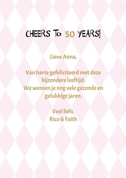 Say cheers to .... years, verjaardagsfelicitatie 3