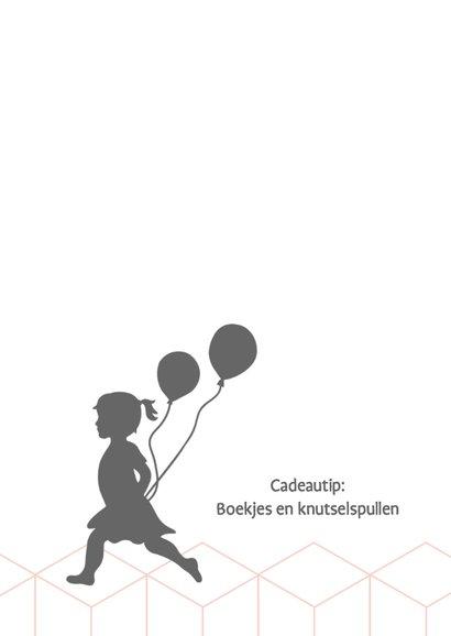 Silhouet uitnodiging meisje met ballonnen 2