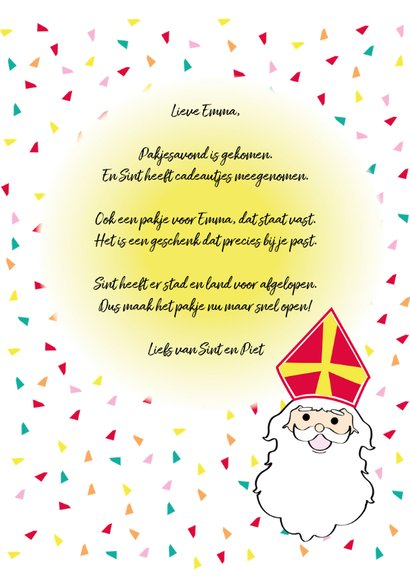 Sinterklaas en Piet in cirkels op vrolijke achtergrond 3
