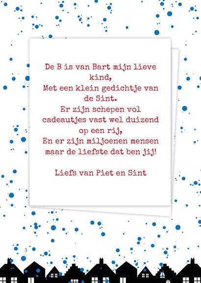 Sinterklaaskaart choco B 3