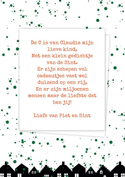 Sinterklaaskaart choco C 3