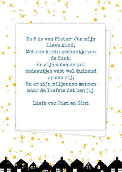 Sinterklaaskaart choco P 3