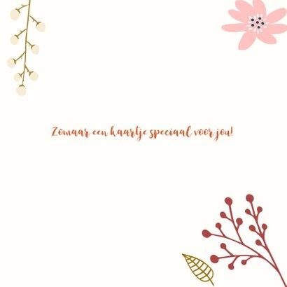 Speciaal voor jou bloemen kaartje  3