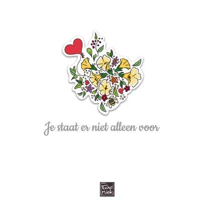 Sterkte met bloemen en hart 2