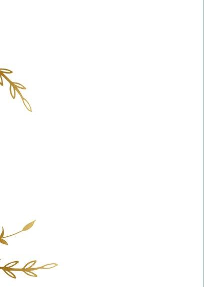 Stijlvolle groene kerstkaart voor bedrijven met goud tekst 2