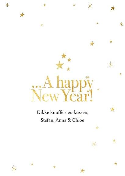 Stijlvolle nieuwjaarskaart met foto's in 2019 en sterren 3