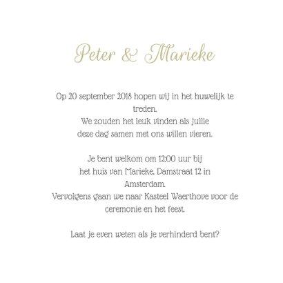 Stijlvolle trouwkaart met foto  3