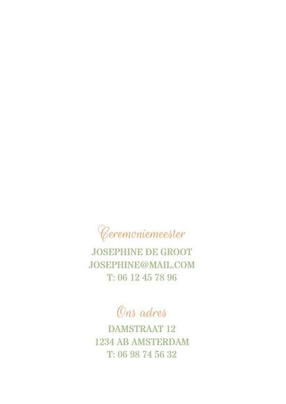 Stijlvolle trouwkaart met takjes 2